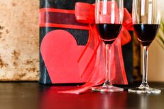 ρομαντική τιμή τών παραμέτρων γευμάτων Στοκ Εικόνα
