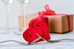 ρομαντική τιμή τών παραμέτρων γευμάτων Στοκ φωτογραφία με δικαίωμα ελεύθερης χρήσης