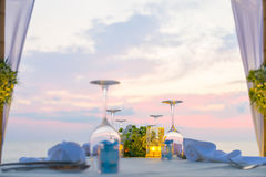 ρομαντική τιμή τών παραμέτρων γευμάτων Στοκ Φωτογραφίες