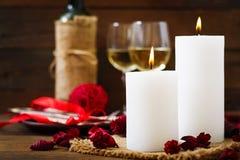 ρομαντική τιμή τών παραμέτρων γευμάτων Στοκ Φωτογραφία