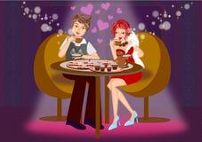 Ρομαντική χρονολόγηση απεικόνιση αποθεμάτων