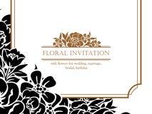 Ρομαντική floral πρόσκληση Στοκ φωτογραφίες με δικαίωμα ελεύθερης χρήσης