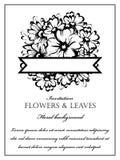 Ρομαντική floral πρόσκληση Στοκ εικόνες με δικαίωμα ελεύθερης χρήσης