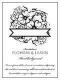 Ρομαντική floral πρόσκληση Στοκ Φωτογραφίες