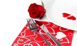 Ρομαντικός γευματίζων στοκ φωτογραφία