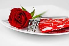 Ρομαντικός γευματίζων στοκ εικόνα