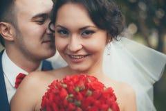 ρομαντικός θέτοντας γάμο&sigm Στοκ Εικόνα