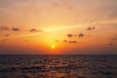 Ρομαντικός ουρανός βραδιού στοκ φωτογραφία με δικαίωμα ελεύθερης χρήσης