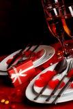Ρομαντικός πίνακας γευμάτων Στοκ Φωτογραφίες