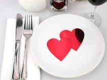ρομαντικός πίνακας γεύματ& Στοκ Φωτογραφίες