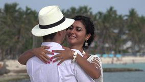 Ρομαντικός χορός ζευγών απόθεμα βίντεο