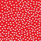 Ρομαντικό άνευ ραφής σχέδιο με τις μικροσκοπικές άσπρες καρδιές Αφηρημένη επανάληψη Στοκ Εικόνες