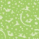 Άνευ ραφής σχέδιο με τα πουλιά, τα λουλούδια και τις καρδιές Στοκ φωτογραφία με δικαίωμα ελεύθερης χρήσης