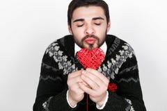 Ρομαντικό άτομο βαλεντίνων Στοκ Εικόνες