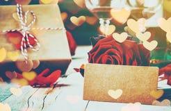 Ρομαντικό γεύμα για τον αγαπημένο Στοκ Εικόνες