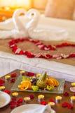 Ρομαντικό γεύμα για τους εραστές Στοκ φωτογραφία με δικαίωμα ελεύθερης χρήσης