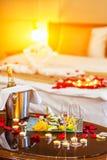Ρομαντικό γεύμα για τους εραστές Στοκ Φωτογραφία