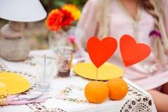Ρομαντικό γεύμα στην έννοια φύσης Στοκ εικόνες με δικαίωμα ελεύθερης χρήσης