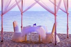 Ρομαντικό γεύμα Στοκ Φωτογραφία