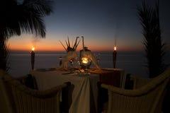 Ρομαντικό γεύμα Στοκ φωτογραφία με δικαίωμα ελεύθερης χρήσης