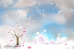 ρομαντικό δέντρο διανυσματική απεικόνιση