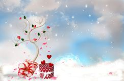 ρομαντικό δέντρο απεικόνιση αποθεμάτων