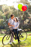 Ρομαντικό ζεύγος εφήβων Στοκ φωτογραφία με δικαίωμα ελεύθερης χρήσης