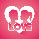 Ρομαντικό ζωηρόχρωμο σχέδιο καρτών με τις ρόδινες καρδιές ελεύθερη απεικόνιση δικαιώματος