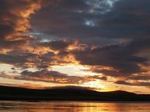 ρομαντικό ηλιοβασίλεμα Στοκ εικόνα με δικαίωμα ελεύθερης χρήσης