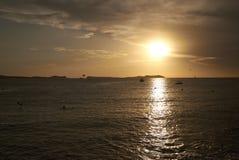 Ρομαντικό ηλιοβασίλεμα Sant Antony de Portmany Στοκ Φωτογραφίες