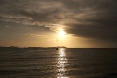 Ρομαντικό ηλιοβασίλεμα Sant Antony de Portmany Στοκ φωτογραφία με δικαίωμα ελεύθερης χρήσης