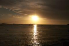 Ρομαντικό ηλιοβασίλεμα Sant Antony de Portmany Στοκ Εικόνες
