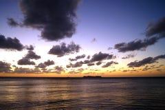 Ρομαντικό ηλιοβασίλεμα στο Ρίο de Λα Plata Στοκ Φωτογραφίες