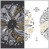 ρομαντικό διάνυσμα απεικόνισης καρτών Στοκ Εικόνες