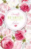 Ρομαντικό κάθετο έμβλημα λουλουδιών Στοκ φωτογραφία με δικαίωμα ελεύθερης χρήσης