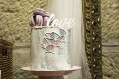 Ρομαντικό κέικ κρέμας Στοκ Φωτογραφίες
