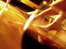 ρομαντικό κρασί γυαλιού βραδιού Στοκ εικόνες με δικαίωμα ελεύθερης χρήσης