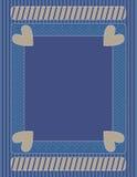 Ρομαντικό μπλε υπόβαθρο βαλεντίνων Στοκ εικόνες με δικαίωμα ελεύθερης χρήσης