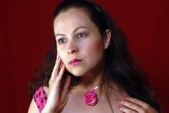 Ρομαντικό πορτρέτο γυναικών Στοκ εικόνα με δικαίωμα ελεύθερης χρήσης