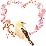 Ρομαντικό πουλί ημέρας βαλεντίνων Στοκ εικόνες με δικαίωμα ελεύθερης χρήσης
