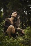 ρομαντικό προκλητικό πουλόβερ κοριτσιών Στοκ εικόνες με δικαίωμα ελεύθερης χρήσης