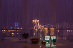 Ρομαντικό σύνολο γευμάτων Στοκ φωτογραφία με δικαίωμα ελεύθερης χρήσης