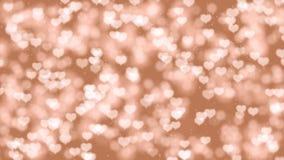 Ρομαντικό υπόβαθρο κινήσεων ημέρας βαλεντίνων με τις καρδιές bokeh