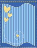 Ρομαντικό υπόβαθρο με τις καρδιές και τα λωρίδες Στοκ Φωτογραφία