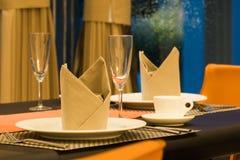 Ρομαντικό dinning επιτραπέζιο σύνολο Στοκ Εικόνες