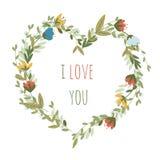 Ρομαντικό floral διανυσματικό υπόβαθρο Στοκ Εικόνα