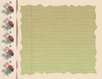 Ρομαντικό Flowery σημειωματάριο Στοκ φωτογραφία με δικαίωμα ελεύθερης χρήσης
