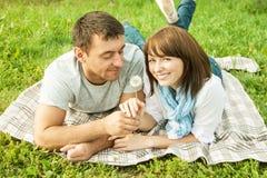 Ρομαντικό picnic Στοκ φωτογραφία με δικαίωμα ελεύθερης χρήσης