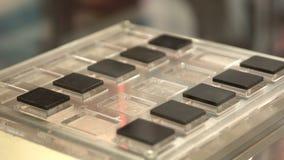 Ρομποτικά στοιχεία βραχιόνων απόθεμα βίντεο