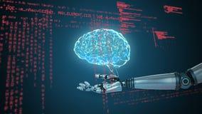 Ρομποτικά χέρια που κρατούν μια σφαίρα απεικόνιση αποθεμάτων